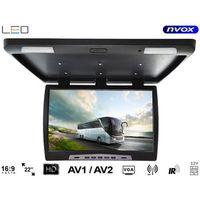 """Monitory samochodowe, NVOX RF2289 BL Monitor podwieszany podsufitowy LCD 22"""" cale LED VGA IR FM"""