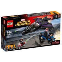 Klocki dla dzieci, Lego Super Heroes Pościg Czarnej Pantery 76047