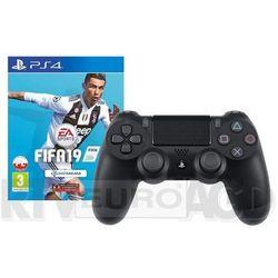 Sony DualShock 4 v2 (czarny) + FIFA 19