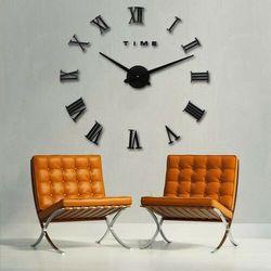 RZYMSKI czarny duży zegar na ścianę czarny większa niż 50 cm