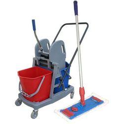 Wózek do sprzątania dwu wiaderkowy 2x17L z mopem płaskim 40 cm Wózki do sprzątania