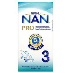 NESTLE NAN PRO 3 350g Mleko następne z B.Lactis dla dzieci powyżej 1 roku karton
