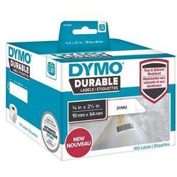 Oryginalne etykiety polipropylenowe DYMO LW 1933085 durable 64mm x 19mm białe/czarny nadruk