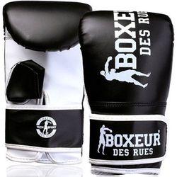 Rękawice bokserskie BOXEUR BXT-5140 (rozmiar S) Czarno-biały