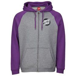 bluza SANTA CRUZ - Other Dot Zip Hood Purple/Dark Heather (PURPLE-DARK HEATHER)