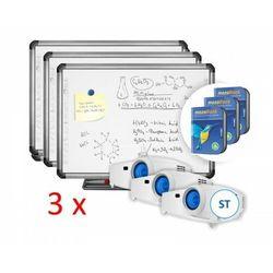 Zestaw TRIO: 3 x tablica interaktywna Newlinie R5-800E + 3 x projektor ST + 3 x Mozabook