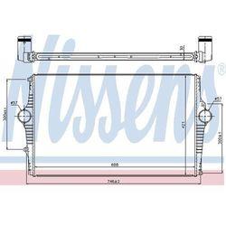 Chłodnica powietrza doładowującego - intercooler NISSENS 969002
