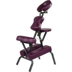 Krzesło fotel do masażu MOVIT składany bordowy