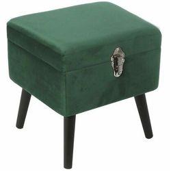 Pufa/Szafka Pils Velvet zielona - zielony