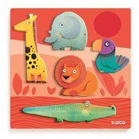 Puzzle, Puzzle drewniane układanka Zwierzęta z dżungli