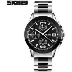Zegarek męski SKMEI 9126 bransoleta black - BLACK
