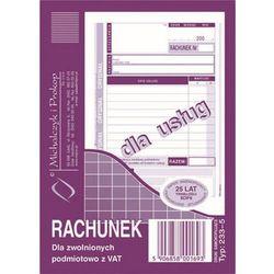 Rachunek dla zwol. podmiot. z Vat Michalczyk&Prokop 233-5 - A6 (oryginał+kopia)