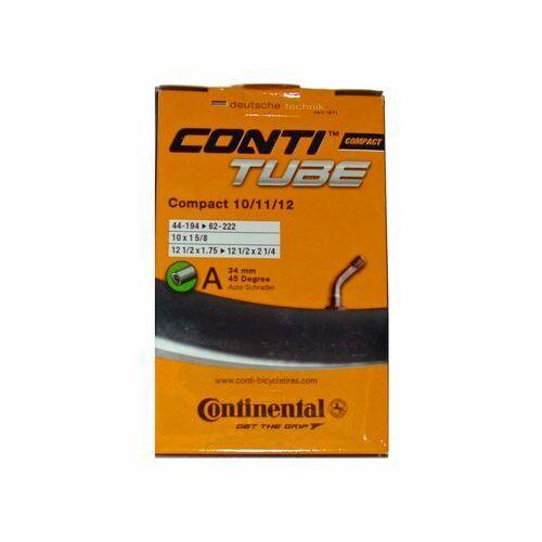 Opony i dętki do roweru, Dętka Continental Compact 10/11/12'' x 1,75'' - 2,5'' wentyl auto 34 mm gięty