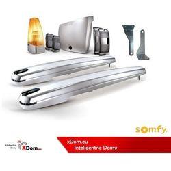 Somfy 2401567 zestaw do bram skrzydłowych EXAVIA 500 z mocowaniem na wąski słupek