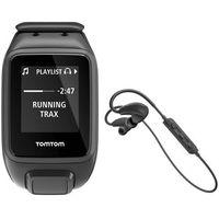 Zegarki sportowe, Zegarek sportowy TOMTOM Spark Fit Music L + Słuchawki BT Czarny + DARMOWY TRANSPORT!