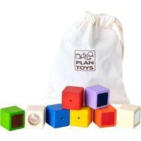 Zabawki z drewna, Klocki interaktywne w woreczku - Plan Toys DARMOWA DOSTAWA KIOSK RUCHU