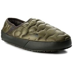 Kapcie THE NORTH FACE - Thermoball Traction Mule IV T9331EZFP Shiny Burnt Olive Green/Black Ink Green