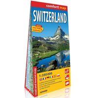 Mapy i atlasy turystyczne, Szwajcaria (Switzerland) laminowana mapa samochodowo-turystyczna 1:350 000