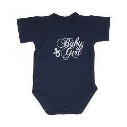 Niemowlęce body KOPERTOWE krótki rękaw Baby Girl granatowe