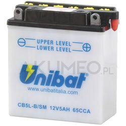 Akumulator UNIBAT CB5L-B/SM 12V 5Ah 65A prawy+ oP