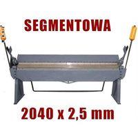 Giętarki, ZAGINARKA GIĘTARKA SEGMENTOWA DO BLACHY MAKTEK 2040mm x 2.5mm EWIMAX promocja (--227%)