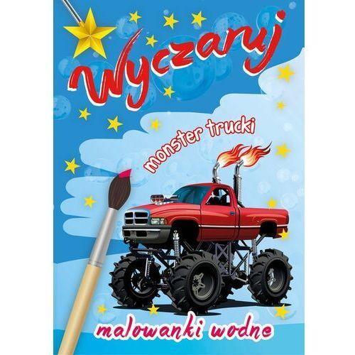 Książki dla dzieci, Malowanki wodne. Wyczaruj monster trucki (opr. miękka)