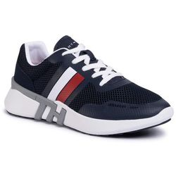 Sneakersy TOMMY HILFIGER - Lightweight Corporate Th Runner FM0FM02661 Desert Sky DW5