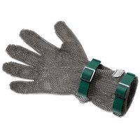 Rękawice robocze, Rękawica metalowa z zielonymi paskami, średnia, rozmiar XS | GIESSER, 9590 08