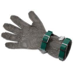 Rękawica metalowa z zielonymi paskami, średnia, rozmiar XS | GIESSER, 9590 08