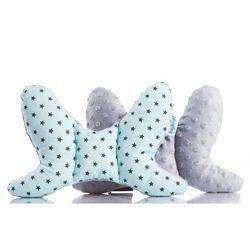 Bajbi poduszka motylek, gwiazdki na niebieskim/szary