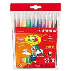 Flamastry Power 12 kolorów etui STABILO