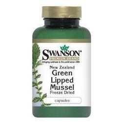 Swanson, Nowozelandzka liofilizowana, zielona małża 500mg, 60 kapsułek - Długi termin ważności! DARMOWA DOSTAWA od 39,99zł do 2kg!