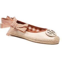 Espadryle TORY BURCH - Minnie Ballet Espadrille 82970 New Cream/Gingham Brown 100