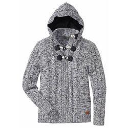 Sweter z kapturem bonprix Sweter z kapt czar.mel