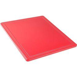 Deska do krojenia z wycięciem HACCP GN 1/2, czerwona | STALGAST, 341321