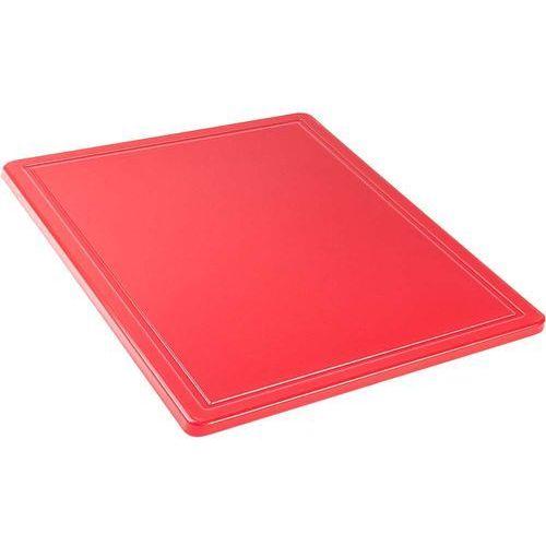 Deski kuchenne, Deska do krojenia HACCP GN 1/2, z wycięciem, czerwona | STALGAST, 341321