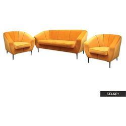 SELSEY Komplet wypoczynkowy Riotto sofa i dwa fotele