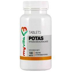 Potas cytrynian potasu - 100 tabletek MyVita