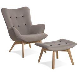 Krzesło Angel fotel jasny szary