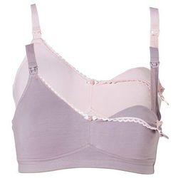 Biustonosz do karmienia piersią (2 szt.) bonprix jasnoróżowy + w kolorze bzu