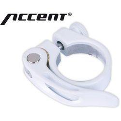 610-00-77_ACC Obejma podsiodłowa z zaciskiem Accent X-Country 31,8 mm biała
