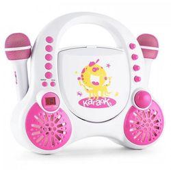 Rockpocket-A PK karaoke dla dzieci 2 mikrofony akumulator biały