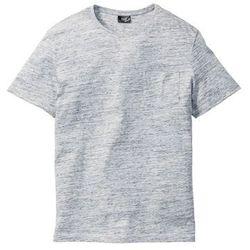 T-shirt melanżowy Regular Fit bonprix niebieski melanż