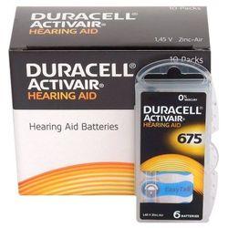60 x baterie do aparatów słuchowych Duracell ActivAir 675 MF