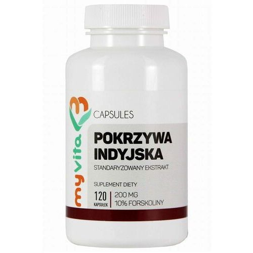 Tabletki na odchudzanie, Pokrzywa indyjska 200mg (10% forskoliny) 120 kaps.