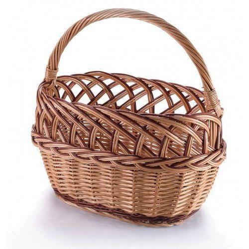 Koszyki, Ażur z warkoczem, kosz wiklinowy zakupowy