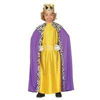 Przebrania dziecięce, Kostium Król fioletowo-złoty dla chłopca - 7-9 lat
