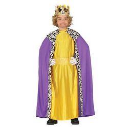 Kostium Król fioletowo-złoty dla chłopca - 7-9 lat