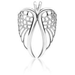 Delikatny rodowany srebrny wisiorek skrzydła anioła angel wings srebro 925 Z1711C