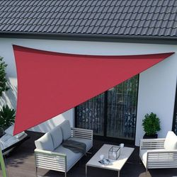 Żagiel przeciwsłoneczny, trójkątny, z tkaniny wodoodpornej, czerwony, 360x360x360 cm